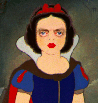 Happy Friday. Here's a picture of Snow White with Steve Buscemi's eyes.: Happy Friday. Here's a picture of Snow White with Steve Buscemi's eyes.