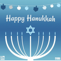 Happy Hanukkah from the Fox News Family!: Happy Hanukkah  OX  EWS  FOXA Happy Hanukkah from the Fox News Family!