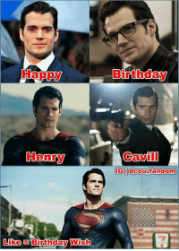 Batman, Birthday, and Instagram: Happy  Henry  Like Birthday Wish  Birthday  Cavill  IGI dceu fandom 5th May, Happy Birthday to Henry Cavill, DCEU's Superman. He turns 34 today. 🙂 Really excited to see his return in Justice League. 😎  Follow DCEU Fandom for more DC memes  www.instagram.com/dceu_fandom   - Batman