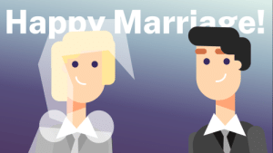 A little illustration I made with The Infographics Show's style in PowerPoint.: Happy Marriage! A little illustration I made with The Infographics Show's style in PowerPoint.