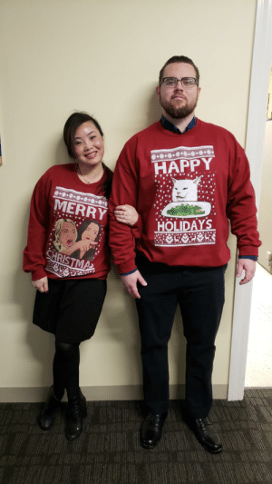 Merry Christmas from my hilarious co workers!: HAPPY  .*********  MERRY  HOLIDAYS  CHRISTMA Merry Christmas from my hilarious co workers!