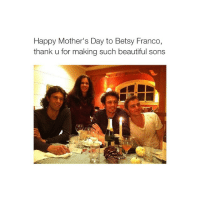 It's Monday, 04:00 AM and I'm awake!!!! Lol!! Goodnight: Happy Mother's Day to Betsy Franco,  thank u for making such beautiful sons It's Monday, 04:00 AM and I'm awake!!!! Lol!! Goodnight