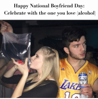Happy National Boyfriend Day:  Celebrate with the one you love (alcohol)  BUSCH Happy NationalBoyfriendDay!! ❤️