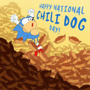 Dank, Happy, and 🤖: HAPPY NATIONAL  CHILI DOG  DAY! One of the greatest days of the year.