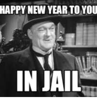 Christmas, Jail, and New Year's: HAPPY NEW YEAR TO YOU  IN JAIL