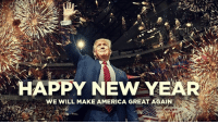 Happy New Year! 🇺🇸🎉: HAPPY NEW YEAR  WE WILL MAKE AMERICA GREAT AGAIN Happy New Year! 🇺🇸🎉