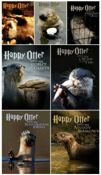 "Omg, Otters, and Prince: Happy Otter  Happy Offer  Hippy 0tter  AND  AND THE  SHELI  OTTERs  STONE  AND THE  PRİSON E12  SECRETs  appy Otter Happ Otel  AND THE  ORDER  OF THFiSH  AND THE  GOBLET  OFFILLETS  Happy Ote  Happy Otter  AND TH  SEMI-AOUATİC  AND THE  PRINCE  MUDDY  SHALLOws <p><a href=""https://omg-images.tumblr.com/post/167311055582/happy-otter"" class=""tumblr_blog"">omg-images</a>:</p>  <blockquote><p>Happy otter</p></blockquote>"