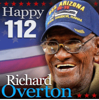 """Birthday, Friends, and Memes: Happy  Richard  Overton* HAPPY BIRTHDAY! Richard Overton of Austin Texas is celebrating his 112th birthday today. """"America's Oldest Veteran"""" has now become the oldest man in the country, and it doesn't look like he's stopping soon! —- Tag friends & Follow 🔊 👉🏽 @unclesamsmisguidedchildren UncleSamsMisguidedChildren MisguidedLife USMCNation"""