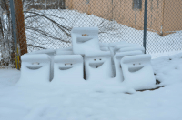 Funny, Happy, and Snow: happy sinks in the snow