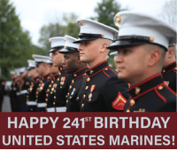 Birthday, Memes, and Marines: HAPPY ST  BIRTHDAY  UNITED STATES MARINES! Nov. 10, 1775, marks the beginning of the greatest fighting force the world has ever seen. Today we celebrate the Marine Corps' 241st Birthday! Semper Fidelis Nation In Distress