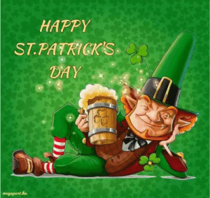 Patricks Day: HAPPY  ST.PATRICKS  DAY