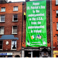 Happy Saint Patrick's day to the undocumented in the USA from the undocumented in Ireland! 🇮🇪 🍀 . PC: Migrant Rights Centre Ireland undocumented ireland stpatricksday: Happy  St. Patrick's Day  to the  undocumented  in the US.A  from the  LL undocumented  in Ireland  #undocIRL  www.mrciie  RINT CENTRE  ACL Happy Saint Patrick's day to the undocumented in the USA from the undocumented in Ireland! 🇮🇪 🍀 . PC: Migrant Rights Centre Ireland undocumented ireland stpatricksday