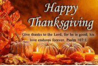 Have a happy and safe Thanksgiving Patriots! #NIDPatriots: Happy  Thanksgiving  Give thanks to the Lord, for he is good; his  love endures forever. Psalm 107: Have a happy and safe Thanksgiving Patriots! #NIDPatriots