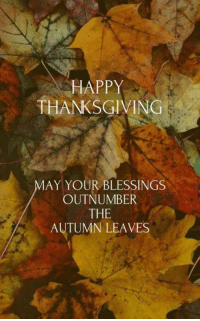Have A beautiful day everyone! Ravishing J: HAPPY  THANKSGIVING  MAY YOUR BLESSINGS  OUTNUMBER  THE  AUTUMN LEAVES Have A beautiful day everyone! Ravishing J