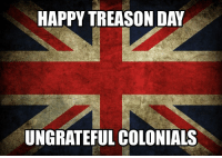 Memes, Queen, and Happy: HAPPY TREASON DAY  UNGRATEFUL COLONIALS From the Queen herself 4thofjuly independenceday july4th 1776 @unclesamsmisguidedchildren