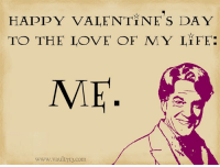 Life, Love, and Memes: HAPPY VALENTiNE S DAY  TO THE LOVE OF MY LiFE:  ME  www.vault713.com