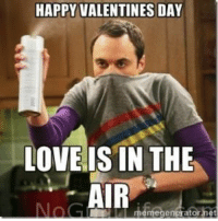 Happy Valentines Day Love Is In The Air Love Meme On Me Me