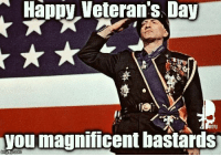 Memes, Magnificent, and 🤖: Happy Veterans Day  RTFU  vou magnificent bastards  gip.com From our crew to you - if you've worn the uniform, support it, or love someone who wears it. Thank You & Happy Veterans day