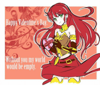 Dammit Iesupa pulling out the feels ~Nero: Happy WalentinesDay  Winout you my World  would be empty. Dammit Iesupa pulling out the feels ~Nero