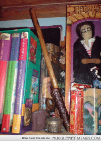 """Harry Potter, Memes, and Hitler: HAR  Hitler hated this site too  MUGGLENET MEMES.COM <p>I&rsquo;ve been a Harry Potter fan since I was 8. I&rsquo;m 22 now, and I still have the shrine. <a href=""""http://ift.tt/15yFYnF"""">http://ift.tt/15yFYnF</a></p>"""