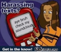 The Knows: Harassing  texts?  bruh  check my  ddou  soun  Get in the know!