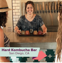 Definitely, San Diego, and Relatable: Hard Kombucha Bar  San Diego, CA for all the places you didn't know about but definitely have to go to, follow 👉 @bringme 😊