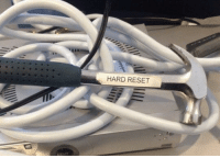 Tumblr, Blog, and Com: HARD RESET programmerhumour:Finding this in the server room made my day