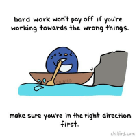 Cute, Goals, and Life: hard work wont pay off if youre  hard work won't poy off if you're  working towards the wrong things.  HIBIRD  make sure you're in the right direction  first  chibird.com For sure, hard work does pay off, and you shouldn't lose hope that it will! ✨Just make sure what you're working towards aligns with your goals properly! cute penguin motivation inspiration dailyinspiration life workhard worksmart motivational chibird art positive digitalart doodle