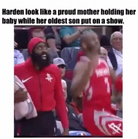 😂 nba nbamemes harden cp3 rockets (Via ‪TerryLee__ ‬-Twitter): Harden look like a proud mother holding her  baby while her oldest son put on a shoW. 😂 nba nbamemes harden cp3 rockets (Via ‪TerryLee__ ‬-Twitter)