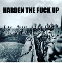 Memes, American, and American Flag: HARDEN THE FUCK UP On this day, Operation Detachment, the USMarines' invasion of Iwo Jima, is launched. IwoJima was a barren Pacific island guarded by Japanese artillery, but to American military minds, it was prime real estate on which to build airfields to launch bombing raids against Japan, only 660 miles away.By evening, more than 550 Marines were dead and more than 1,800 were wounded. The capture of Mount Suribachi, the highest point of the island and bastion of the Japanese defense, took four more days and many more casualties. When the American flag was finally raised on Iwo Jima, the memorable image was captured in a famous photograph that later won the Pulitzer Prize. UncleSamsMisguidedChildren USMCNation hillaryforprison MERICA USMC SemperFi Grunt IGTactical MARINES Veteran USA Grunts INFIDEL OUTLAW WARFIGHTER Rebel Combat Tactical SemperFidelis Liberty Freedom NRA Revolution DontTreadOnMe MolonLabe 2A