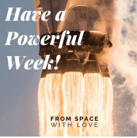 photos-of-space:  Monday motivation before Christmas marathon - Pic by SpaceX [1080x1080]: Hare a  Powerful  Week!  45  FROM SPACE  WITH LOV E photos-of-space:  Monday motivation before Christmas marathon - Pic by SpaceX [1080x1080]