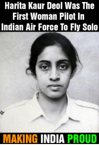 Air Force Day.: Harita Kaur Deol Was The  First Woman Pilot In  Indian Air Force To Fly Solo  MAKING INDIA PROUD Air Force Day.
