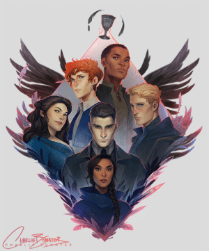 Instagram, Target, and Tumblr: HARLE ONATER  80WATER charliebowater:    Plenty of you lovely book nerds already spotted it but now I can share my Six of Crows gang illustration for the @illumicrate Grisha Box! ✨For those asking: it's currently exclusive to Illumicrate but might be available in my shop in a few months, if I can sort it out :)