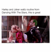 THIS DANCE IS EVERYTHING AHH - follow @bitchy.tweets if you're watching 👻: Harley and Joker waltz routine from  Dancing With The Stars, this is great THIS DANCE IS EVERYTHING AHH - follow @bitchy.tweets if you're watching 👻