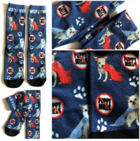 """Memes, Free, and Puppy: Harley & Teddy """"NO Puppy Mills"""" socks! We don't have many left, so get them while you can. Premium quality, plus fast, FREE shipping in the US. They are great conversation-starters! Order here: https://harleys-dream.myshopify.com/products/harley-teddy-socks-no-puppy-mills"""