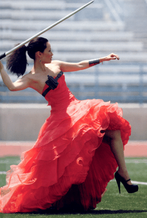 Life, Tumblr, and Thank You: haroldhighballjordan: generatorcat:   iheartchucks:  crossbowsandwalkers:  Is this Lucy Liu throwing a javelin in a dress and high heels  Yes   @haroldhighballjordan   This is the most important photo I've ever seen in my life. Thank you for this. Thank you so much.