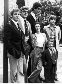 Carrie Fisher, Harrison Ford, and Mark Hamill  Harrison Ford, David Prowse, d9b67e08818a
