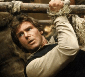 Han Solo, Harrison Ford, and Jedi: Harrison Ford wanted his character Han Solo killed off in Return of the Jedi (1983). But was persuaded to change his mind after being told he'd receive a much bigger paycheck to die in The Force Awakens (2015)