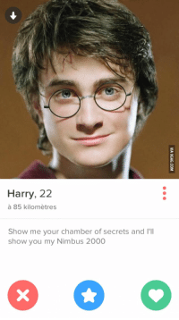 nimbus 2000: Harry, 22  Show me your chamber of secrets and l'Il  show you my Nimbus 2000