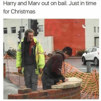 Bruh, Christmas, and Memes: Harry and Marv out on bail. Just in time  for Christmas Bruh...😳😩😂 WSHH