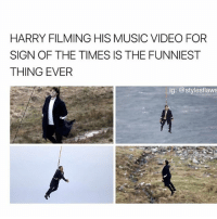 Memes, Music, and Video: HARRY FILMING HIS MUSIC VIDEO FOR  SIGN OF THE TIMES IS THE FUNNIEST  THING EVER  ig: @stylesflaws DJAJDJBA