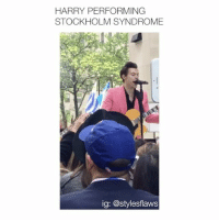 oH baby looookkk what you've done to mee [ follow @stylesflaws (me) for more posts! 🤝 ]: HARRY PERFORMING  STOCKHOLM SYNDROME  ig: @stylesflaws oH baby looookkk what you've done to mee [ follow @stylesflaws (me) for more posts! 🤝 ]