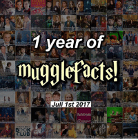 Club, Facts, and Friends: HARRY  POTTE  1 year of  Juli 1st 2017  POTERMORE  BOOK  CLUB Okay, wow... On this day, one year ago, i changed my username from @namesnewt_ to @mugglefacts. I had been posting facts for a year then but decided to change it to an fully hp fact account and i have never regret that. I started mugglefacts with 9,6k followers, now we're over 100k! I would have never thought that this account would ever get this big, but it's all thanks to you guys❤ So i just want to say thank you for this amazing year and i hope many years to come❤ And much love to all the friends i've made on here, i won't tag them bc i can only tag 20 people and i'm honestly too lazy so yeah😂❤ mugglefactsimportantmoments