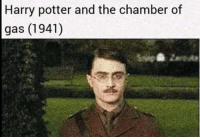 An unpublished draft of the first Harry Potter book that was supposed to take place in the 1940's (1997, colorised): Harry potter and the chamber of  gas (1941) An unpublished draft of the first Harry Potter book that was supposed to take place in the 1940's (1997, colorised)