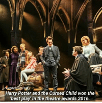 Did you watch it yet? • I didn't🙁11.5k: Harry Potter and the Cursed Child won the  'best play in the theatre awards 2016. Did you watch it yet? • I didn't🙁11.5k
