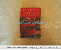 """Harry Potter, Memes, and Book: HARRY  POTTER  and the Pihilosapher Stn  WEIN  Isn't it amazing how a book did all this?  The #2 most addicting site  MUGGLENET MEMES.COM <p>It really is incredible when you take a step back <a href=""""http://ift.tt/1Jv5vMV"""">http://ift.tt/1Jv5vMV</a></p>"""