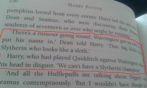 """obdobuk:  tunte:  lmpossibleamy:  aplatonicjacuzzi:  crazybutperfectlysane:  So I was rereading Harry Potter, when I came across this and thought- what if instead of Cedric Diggory, Cassius Warringtonhad been chosen to compete in the Triwizard Tournament? Imagine Dumbledore calling out the name of the Hogwarts champion and it isn't a Gryffindor, or a Ravenclaw, or even a Hufflepuff, but it's a Slytherin. A student from a House most people hate. Imagine Cassius Warrington getting up, and three out of four Houses are booing at him and shouting things like""""NO!"""" or,""""We can't have a Slytherin champion!"""" or demanding a retry. But he's a Slytherin- he's been dealing with this shit since he got sorted, so he keeps his head high and joins the other champions. Imagine Harry trying to catch Warrington alone because he doesn't really want to associate with Slytherins (plus Malfoy has this tendency of being around the guy ALL THE TIME since he got chosen), but at the same time he's also fair enough not to want him to walk into the first task unprepared. Imagine Warrington walking over to Harry a few months later, and Ron and Hermione both jump into a protective stance, wands out, but instead of attacking Harry he just tells him to stick the egg underwater. (Because Slytherins don't forget those who helped them out). Imagine Warrington and Harry helping each other out in the labyrinth. Imagine Harry being devastated when Peter kills Warrington- because Voldemort doesn't care what house they're form, a spare is a spare. Imagine the uproar that causes among the Slytherins, because some of their parents really are Death Eaters and they know what really happened. Imagine Slytherins fighting in the Battle of Hogwarts and shouting""""This is for Cassius!""""  Imagine Harry returning with Warrington's body, and the crowd realizes what's happened, but Warrington's parents don't show up. There's no one to mourn him, to cradle him in their arms and cry for their son. The Slytherins know why. His"""