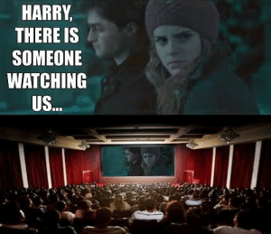 33 Harry Potter Jokes Even Muggles Will Appreciate: HARRY,  THERE IS  SOMEONE  WATCHING  US 33 Harry Potter Jokes Even Muggles Will Appreciate