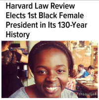 "LinkedIn, Memes, and Phenomenal: Harvard Law Review  Elects 1st Black Female  President in Its 130-Year  History  17th soulja4 The Harvard Law Review has elected the first black woman to serve as president in the legal journal's 130-year history. ImeIme A. Umana, a native of Harrisburg, Pa., will serve as the 131st leader of the organization. The Harvard Crimson reports that as an undergraduate at Harvard, she double-majored in government and African-American studies. She graduated in 2014 and is expecting to receive her J.D. in 2018, according to her LinkedIn profile.In an email to the Crimson, outgoing Law Review President Michael L. Zuckerman wrote that he is excited to see where Umana takes the publication in the coming year. ""ImeIme is one of the most brilliant, thoughtful, and caring people I've met, and the Law Review is in phenomenally good hands,"" Zuckerman wrote. Umana was selected from a field of 12 candidates, eight of whom were women and eight of whom were people of color, according to Zuckerman. All candidates for president must answer questions from a forum of editors, write responses to submitted questions and participate in mock editorial activities. ""ImeIme's election as the Law Review's first female black president is historic,"" Zuckerman wrote. ""For a field in which women and people of color have for too much of our past been marginalized or underrepresented, her election is an important and encouraging step toward a richer and more inclusive legal conversation.""In her job as president, Umana will oversee the work of 90 student editors and staff members as well as communicate with a group of writers that includes faculty members. ""Knowing ImeIme, I can't wait to applaud her in a year's time for the extraordinary work that I am certain she will do,"" Zuckerman wrote. The Crimson reports that Umana's election comes just as the Law Review seeks to accept editors from a wider variety of backgrounds. Last year it elected the most diverse class of editors in its history. In addition, in 2013 the journal expanded its affirmative action policy to include gender as a factor in its admissions process. 17thsoulja BlackIG17th blackexcellence"