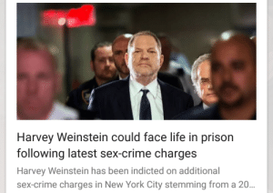 Crime, Life, and New York: Harvey Weinstein could face life in prison  following latest sex-crime charges  Harvey Weinstein has been indicted on additional  sex-crime charges in New York City stemming from a 20 smartass-stripper:  hashtag-stripper-problems:  HA!!! HAHA!! AAAHAHAHAHA!!!!!  Like to charge, reblog to cast maximum sentence!